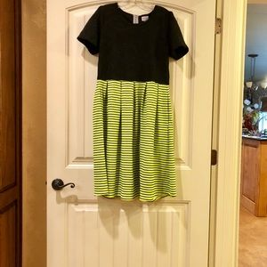 NWOT Neon Yellow And Black Amelia Dress Size Large